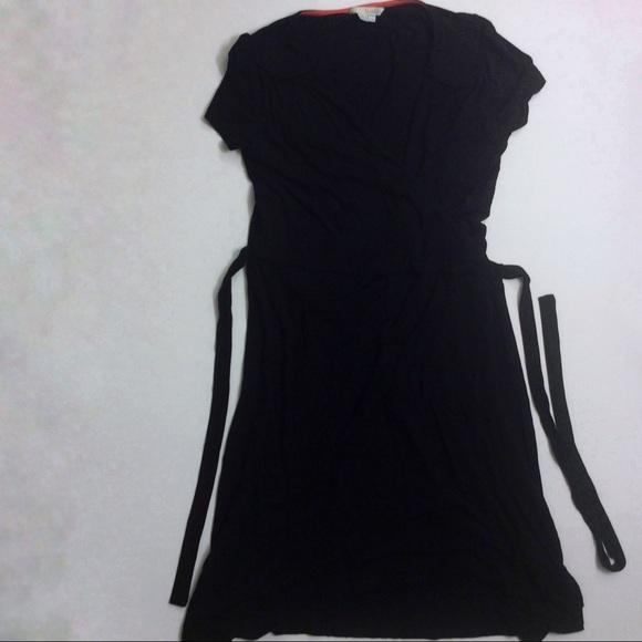 2fd1ce28db1 Boden Black Wrap Dress